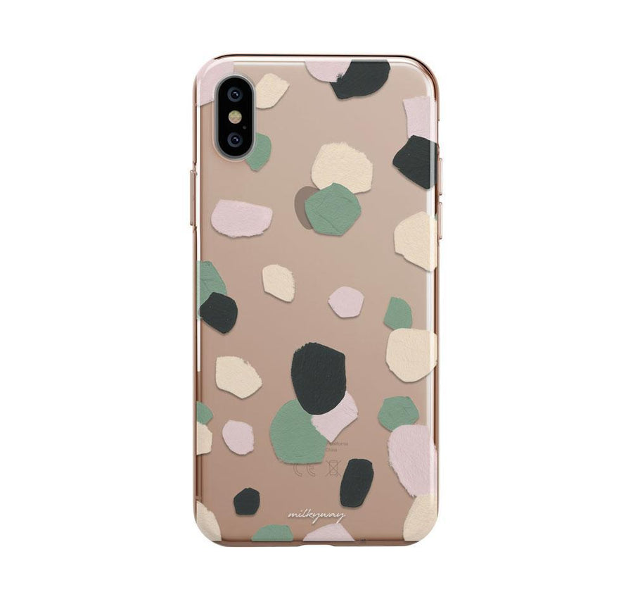 Abstract Confetti iPhone XS Case Clear