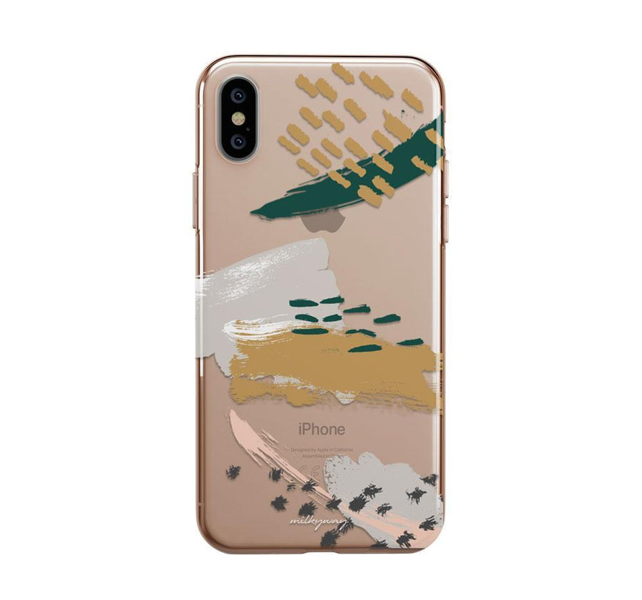 Abstract Strokes iPhone XS Case Clear