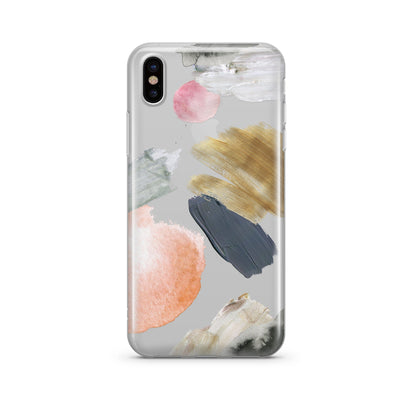 Abstract Party Clear TPU Case - Clear Cut Silicone iPhone Cover - Milkyway Cases