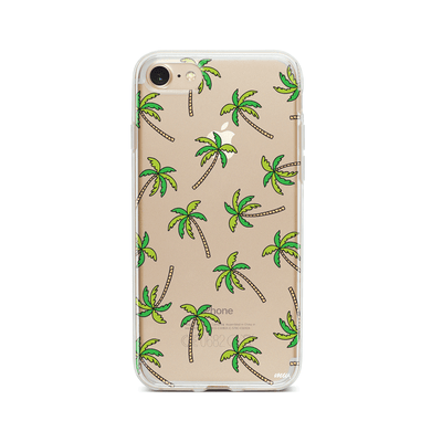 Aloha Trees - Clear TPU - iPhone Case