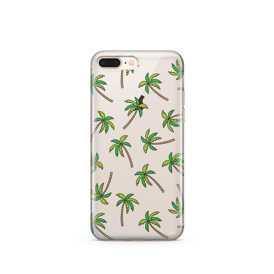 CLEARANCE iPhone 7 Clear Case Cover - Aloha Trees