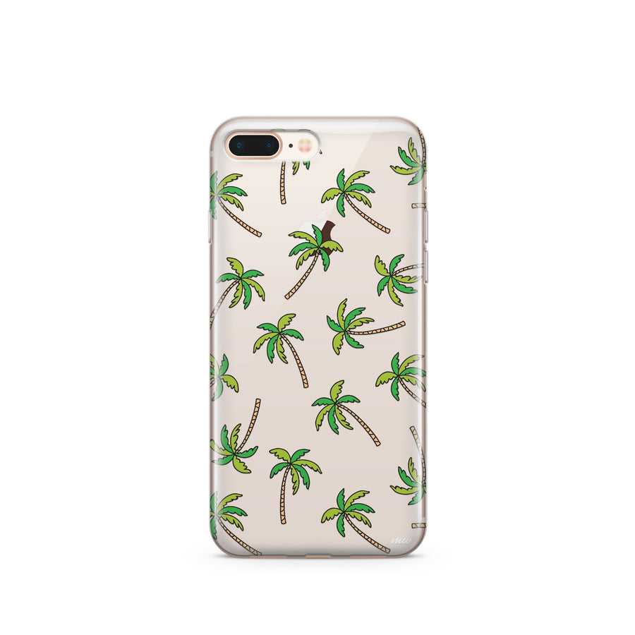 Aloha Trees' - Clear Case Cover - Milkyway Cases -  iPhone - Samsung - Clear Cut Silicone Phone Case Cover