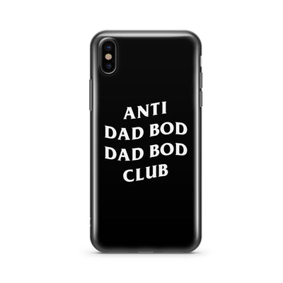 Anti Dad Bod Dad Bod Club - Black TPU iPhone Case Cover - Milkyway Cases -  iPhone - Samsung - Clear Cut Silicone Phone Case Cover
