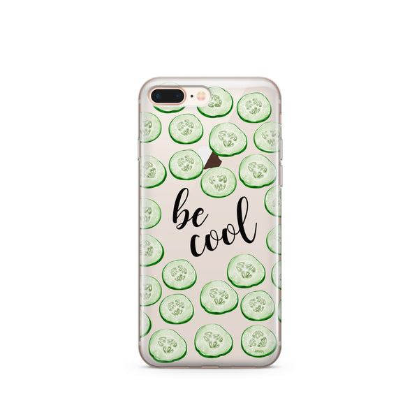 Be Cool' - Clear Case Cover - Milkyway Cases -  iPhone - Samsung - Clear Cut Silicone Phone Case Cover