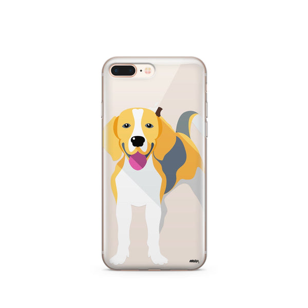 Beagle - Clear TPU Case Cover - Milkyway Cases -  iPhone - Samsung - Clear Cut Silicone Phone Case Cover