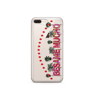 Besame Mucho - Clear Case Cover - Milkyway Cases -  iPhone - Samsung - Clear Cut Silicone Phone Case Cover
