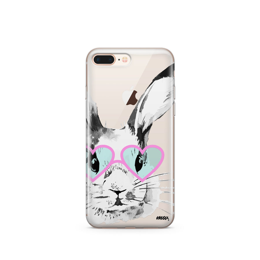 Beverly Hills Bunny - Clear TPU Case Cover - Milkyway Cases -  iPhone - Samsung - Clear Cut Silicone Phone Case Cover