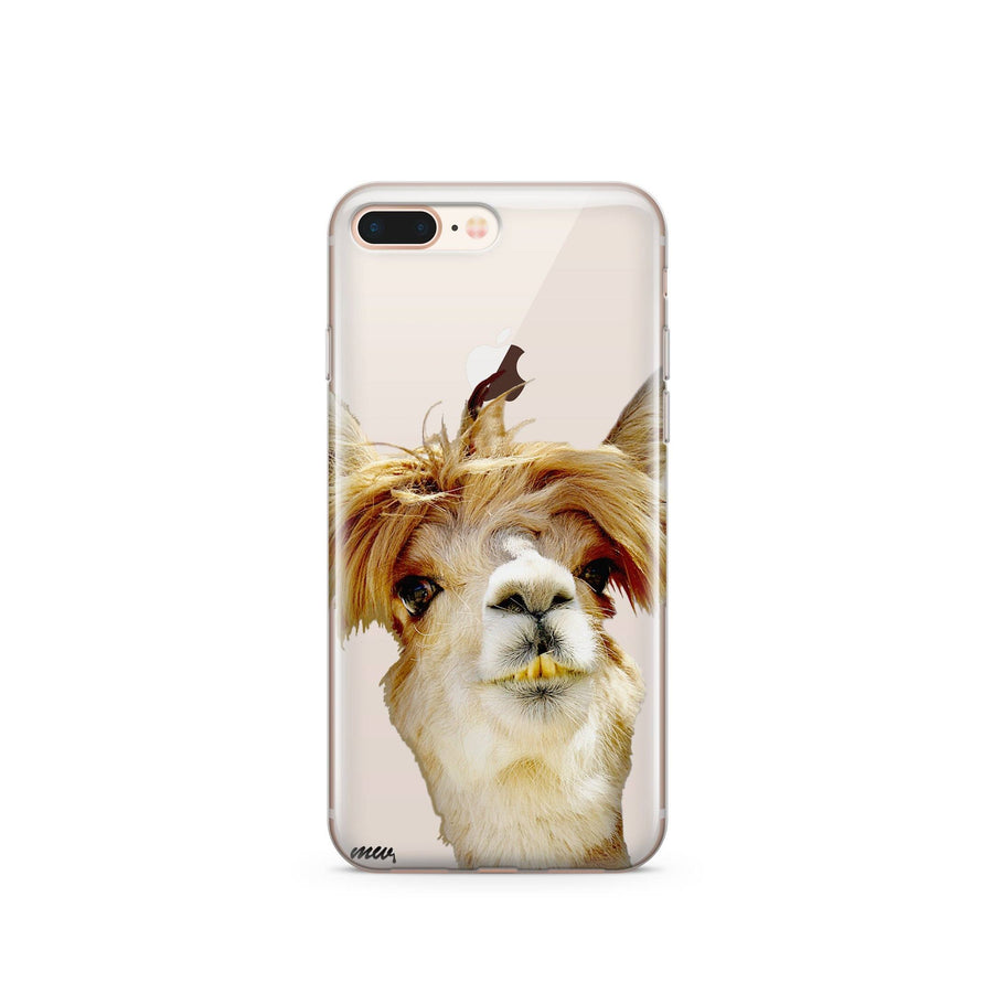 Bieber Llama - Clear TPU Case Cover - Milkyway Cases -  iPhone - Samsung - Clear Cut Silicone Phone Case Cover