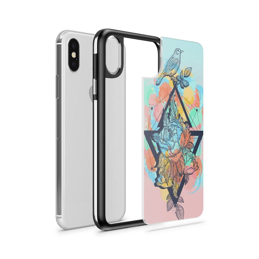 Bird Of Paradise - Slate Case - Milkyway Cases -  iPhone - Samsung - Clear Cut Silicone Phone Case Cover