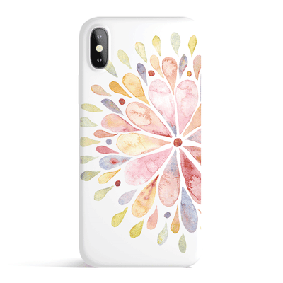 Blissful Mandala - Colored Candy Matte TPU iPhone Case Cover Milkyway iPhone Samsung Clear Cute Silicone 8 Plus 7 X Cover