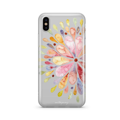 Blissful Mandala Clear TPU Case - Clear Cut Silicone iPhone Cover - Milkyway Cases