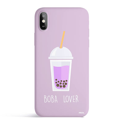 Boba Lover - Colored Candy Matte TPU iPhone Case Cover Milkyway iPhone Samsung Clear Cute Silicone 8 Plus 7 X Cover