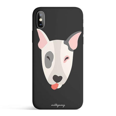 Bull Terrier - Colored Candy Cases Matte TPU iPhone Cover