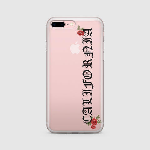'California Rose' - Clear TPU Case Cover