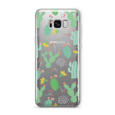 Cactus Jack - Clear TPU Case Cover Milkyway iPhone Samsung Clear Cute Silicone 8 Plus 7 X Cover