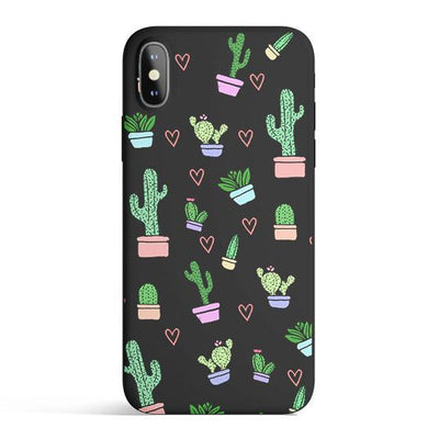 Cactus Love - Colored Candy Cases Matte TPU iPhone Cover