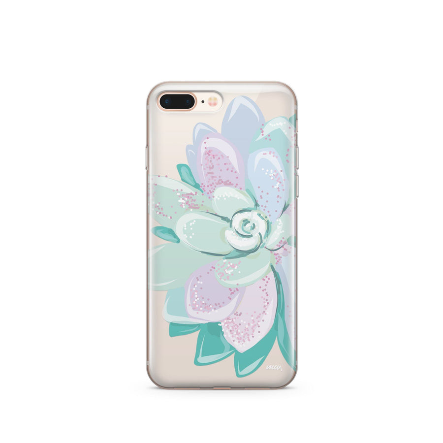 Cactus Blue  - Clear Case Cover