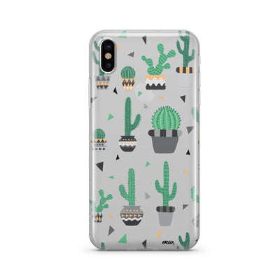 Cactus Party Clear TPU Case - Clear Cut Silicone iPhone Cover - Milkyway Cases