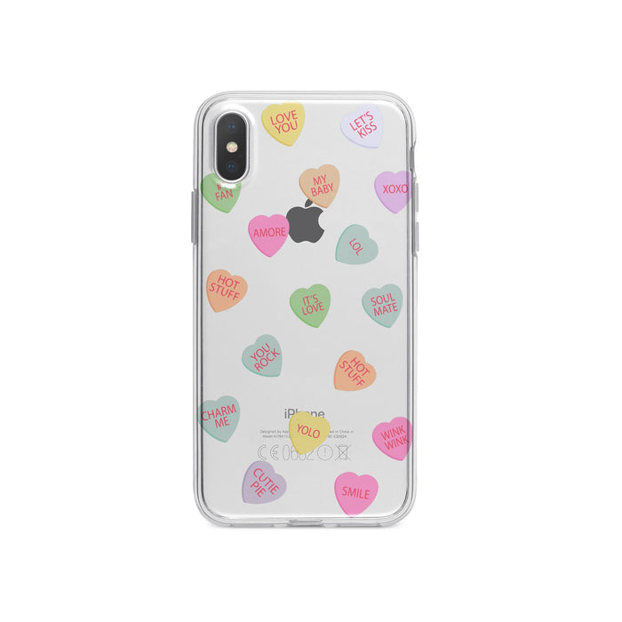 Valentine's Candy Hearts - Clear TPU Case Cover