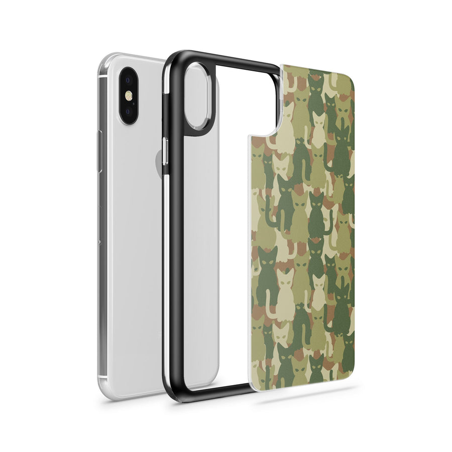 Cat Camo - Slate Case - Milkyway Cases -  iPhone - Samsung - Clear Cut Silicone Phone Case Cover