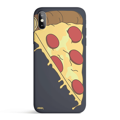Cheesy Pizza - Colored Candy Matte TPU iPhone Case Cover Milkyway iPhone Samsung Clear Cute Silicone 8 Plus 7 X Cover