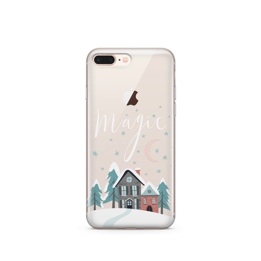 Christmas Magic' - Clear Case Cover - Milkyway Cases -  iPhone - Samsung - Clear Cut Silicone Phone Case Cover