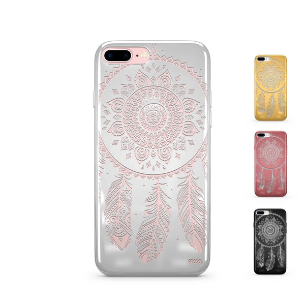 Chrome Shiny Ojibwe Dream Cather iPhone Case - Milkyway Cases -  iPhone - Samsung - Clear Cut Silicone Phone Case Cover