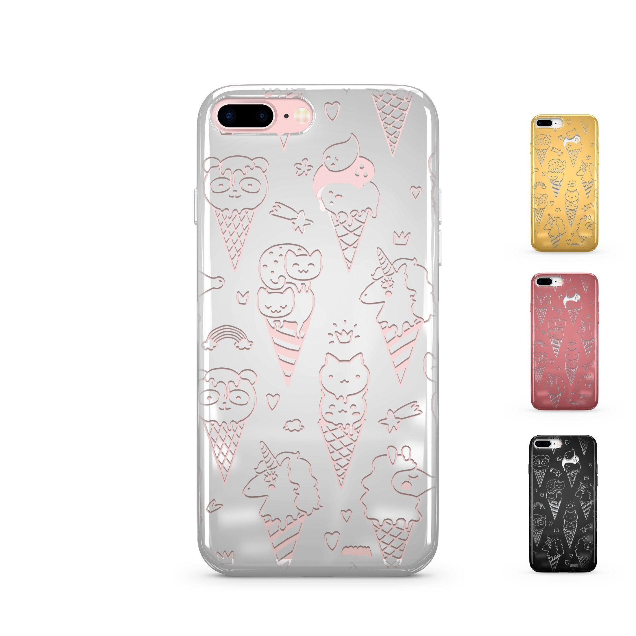 Chrome Shiny TPU Case - Ice Cream Squad