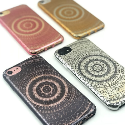 Chrome Shiny Super Mandala iPhone Case - Milkyway Cases -  iPhone - Samsung - Clear Cut Silicone Phone Case Cover