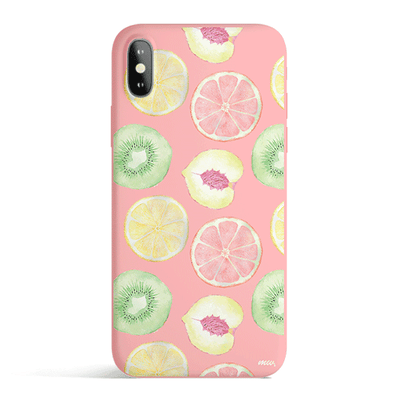 Citrus Summer - Colored Candy Matte TPU iPhone Case Cover Milkyway iPhone Samsung Clear Cute Silicone 8 Plus 7 X Cover