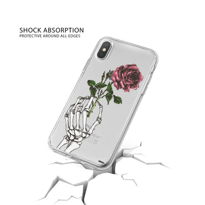 Crane Rose iPhone X Case Clear