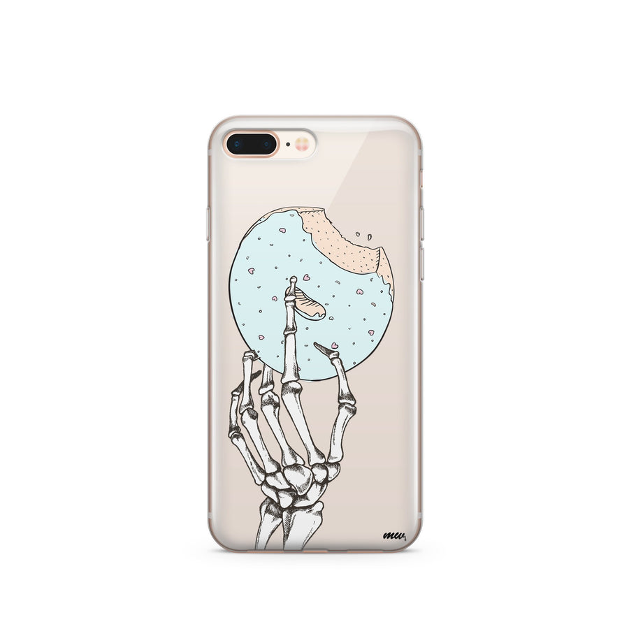 Crane Donut- Clear Case Cover - Milkyway Cases -  iPhone - Samsung - Clear Cut Silicone Phone Case Cover