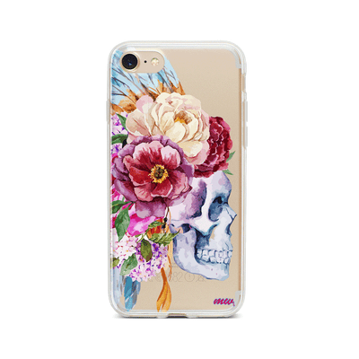 Craneo De La Flor - Clear TPU Case Cover Milkyway iPhone Samsung Clear Cute Silicone 8 Plus 7 X Cover