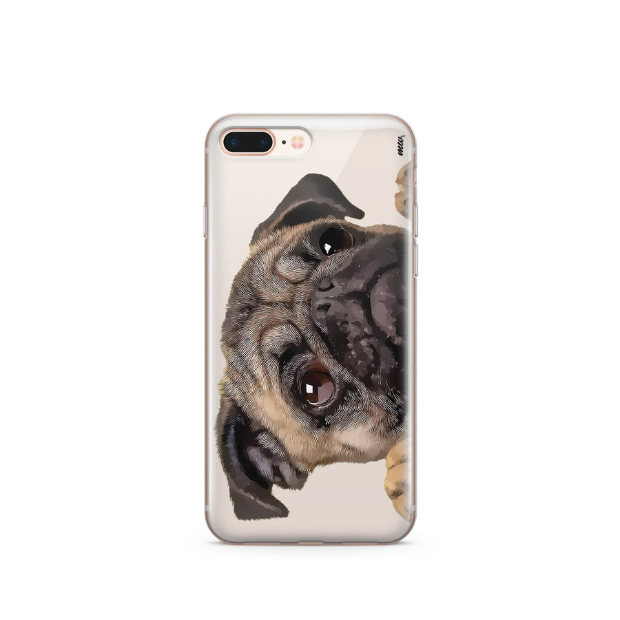 Cry Baby Pug - Clear Case Cover - Milkyway Cases -  iPhone - Samsung - Clear Cut Silicone Phone Case Cover
