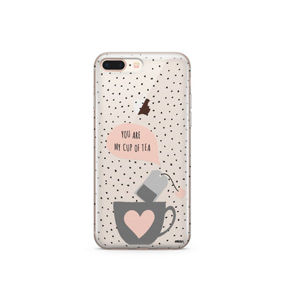 Cup Of Tea - Clear Case Cover - Milkyway Cases -  iPhone - Samsung - Clear Cut Silicone Phone Case Cover