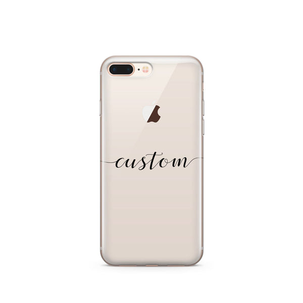 size 40 15845 ce3ff Custom Name iPhone & Samsung Clear Phone Case Cover