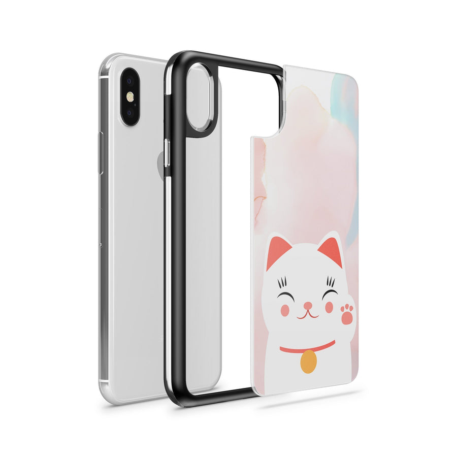 Cutie Cat - Slate Case - Milkyway Cases -  iPhone - Samsung - Clear Cut Silicone Phone Case Cover