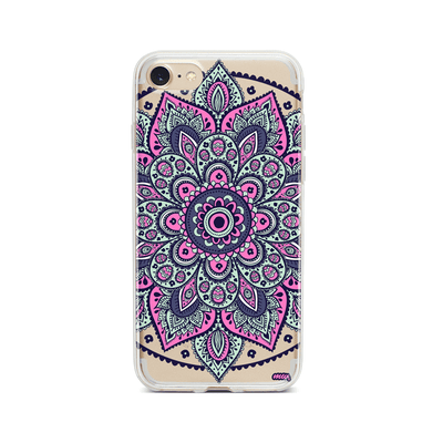 Dakota Mandala - Clear TPU Case Cover Milkyway iPhone Samsung Clear Cute Silicone 8 Plus 7 X Cover