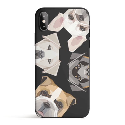 Dogs With Attitudes - Colored Candy Matte TPU iPhone Case Cover - Milkyway Cases -  iPhone - Samsung - Clear Cut Silicone Phone Case Cover