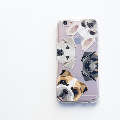 Dogs With Attitudes - Clear Case Cover - Milkyway Cases -  iPhone - Samsung - Clear Cut Silicone Phone Case Cover