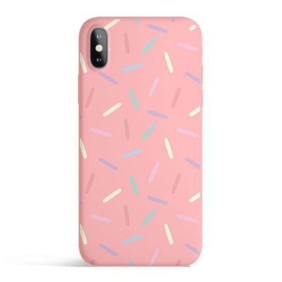 Donut Sprinkles - Colored Candy Cases Matte TPU iPhone Cover