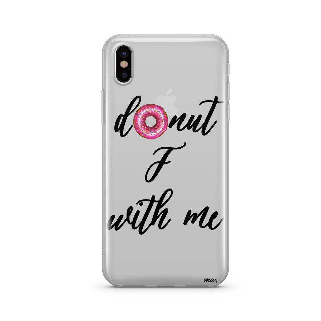 Donut F With Me Clear Tpu Case Cover Milkyway