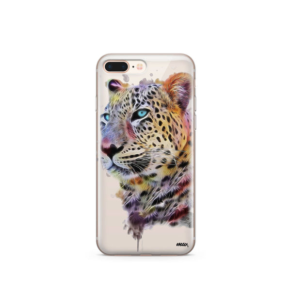 Dripping Leopard - Clear TPU Case Cover - Milkyway Cases -  iPhone - Samsung - Clear Cut Silicone Phone Case Cover
