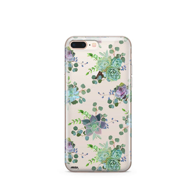 Echeveria' - Clear Case Cover - Milkyway Cases -  iPhone - Samsung - Clear Cut Silicone Phone Case Cover