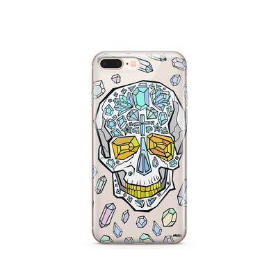 Encrusted Skull - Clear TPU Case Cover - Milkyway Cases -  iPhone - Samsung - Clear Cut Silicone Phone Case Cover