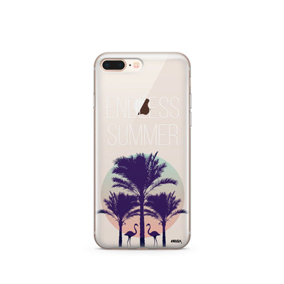 Endless Summer - Clear TPU Case Cover - Milkyway Cases -  iPhone - Samsung - Clear Cut Silicone Phone Case Cover