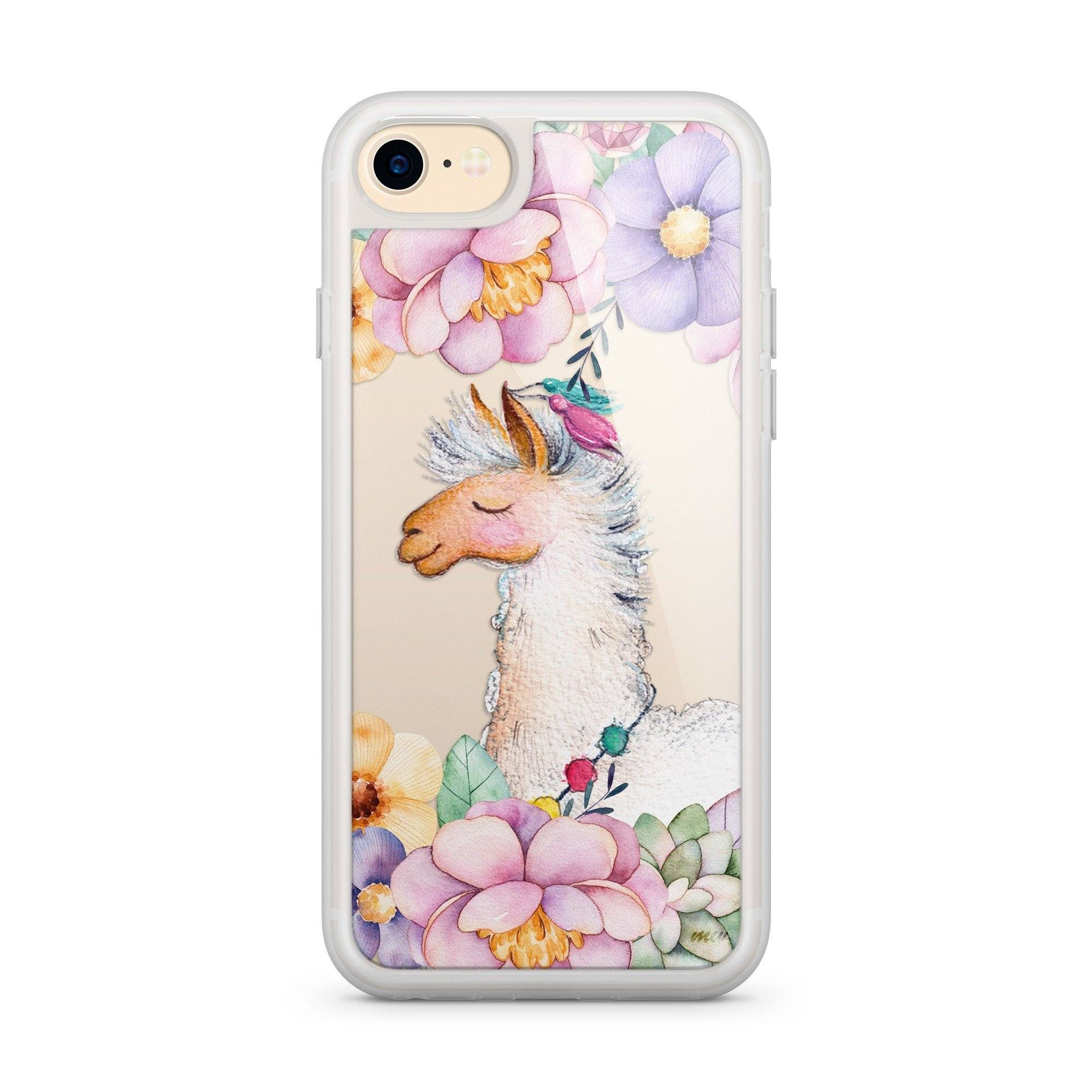 Premium Milkyway iPhone Case - Floral Llama