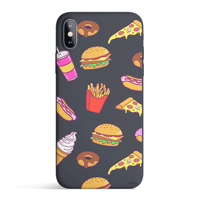 Fast Food - Colored Candy Matte TPU iPhone Case Cover Milkyway iPhone Samsung Clear Cute Silicone 8 Plus 7 X Cover
