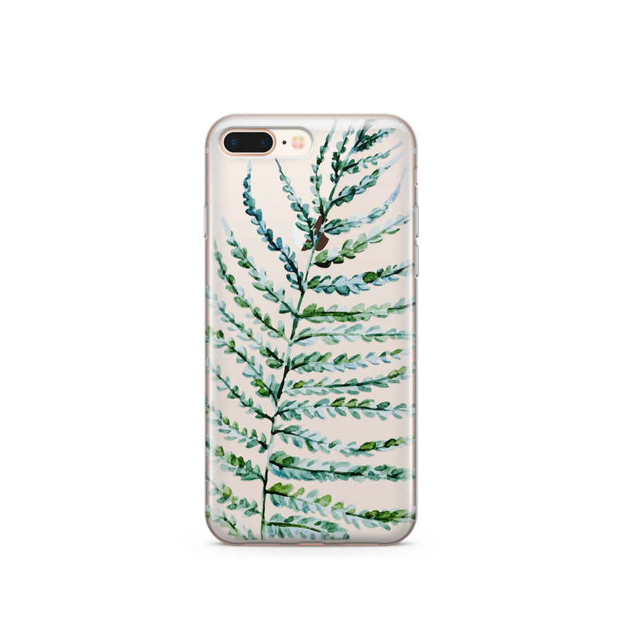 Fern' - Clear Case Cover - Milkyway Cases -  iPhone - Samsung - Clear Cut Silicone Phone Case Cover