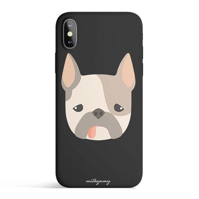 French Bulldog - Colored Candy Cases Matte TPU iPhone Cover